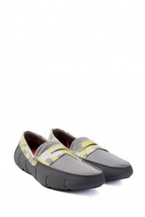Swims Penny Loafer Camo Grey & Lime