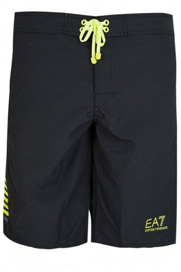 Armani EA7 Long Swim Shorts Black
