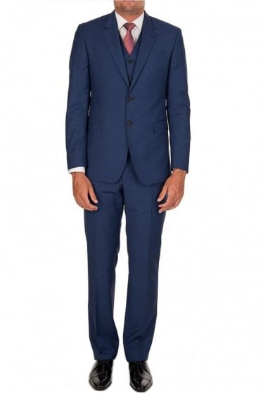 Paul Smith Tailored Three Piece Suit Blue