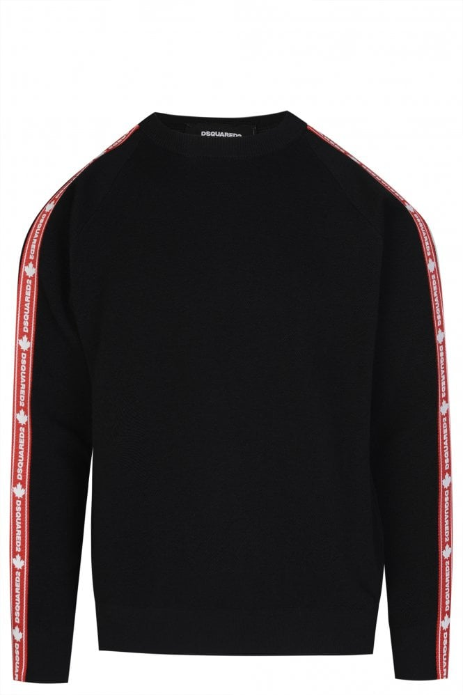 TAPE SLEEVE KNITTED SWEATER