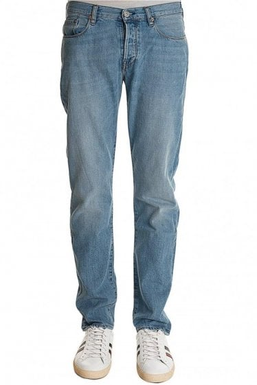 Tapered Fit Light Washed Jeans