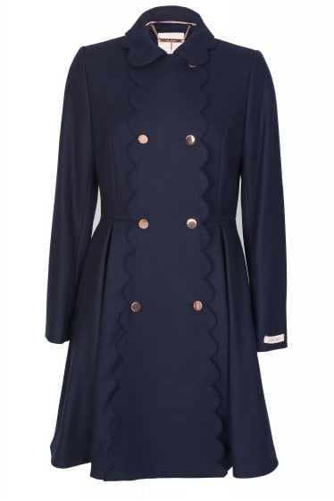 Ted Baker Blarnch Scallop Trim Coat