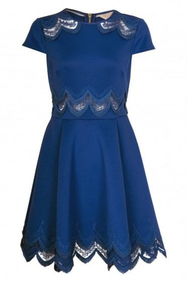 Ted Baker Cap Sleeve Skater Dress