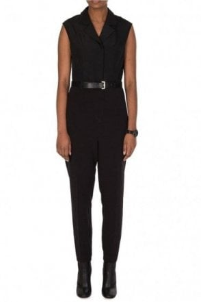 Ted Baker Collared Jumpsuit Black