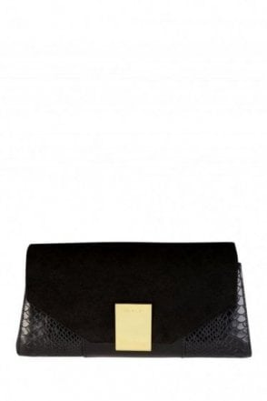 Ted Baker Exotic Detail Clutch Black