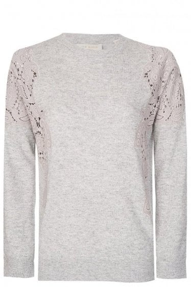 Lace Shoulder Knitwear