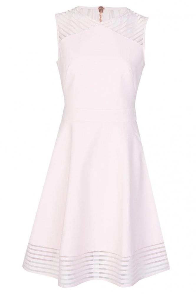 TED BAKER Mesh Skater Dress Pink