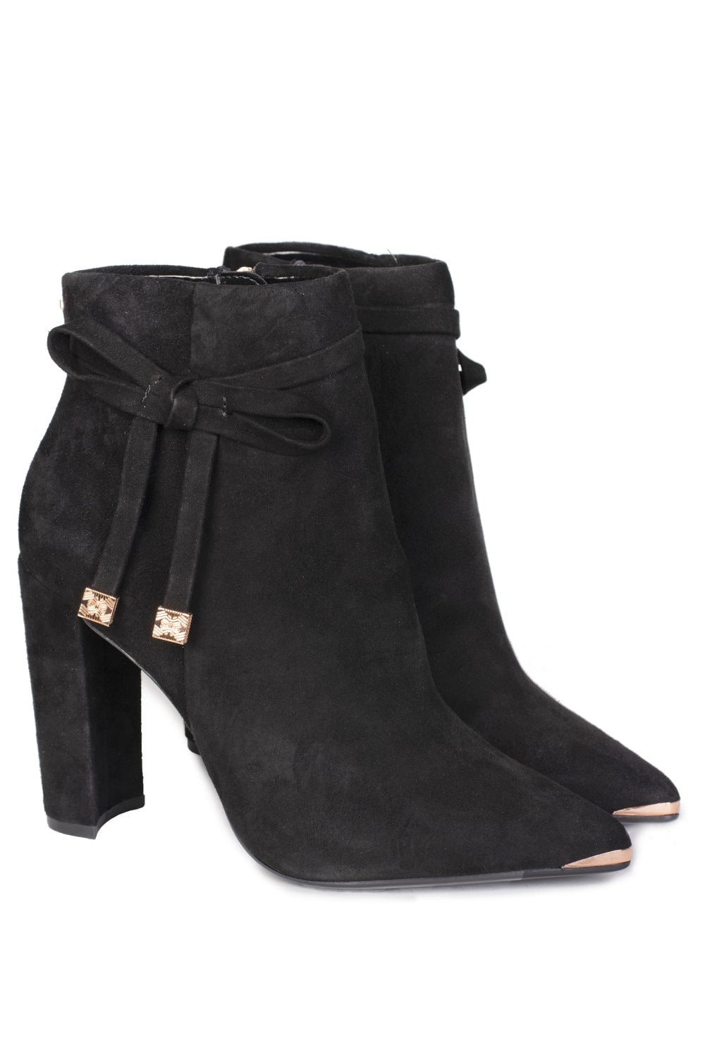 Qatena Detail Bow Boots Ankle Suede xBQWdoerC