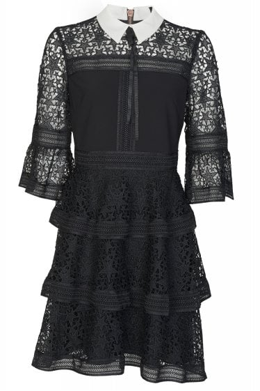 Ted Baker Starh Lace Ruffle Dress