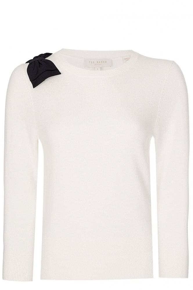 TED BAKER Womens Bow Knitted Jumper