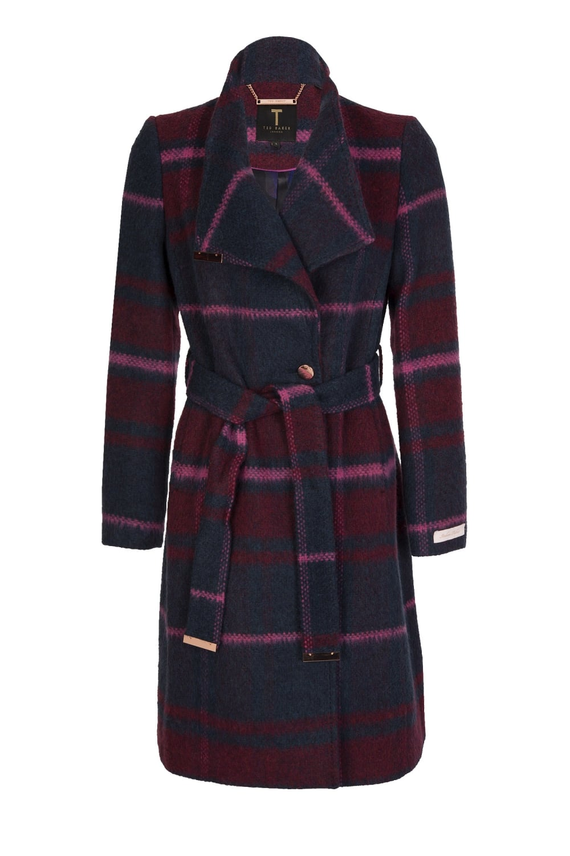 a4da35d9b4c2 Ted Baker Women s Fredye Check Long Wrap Coat