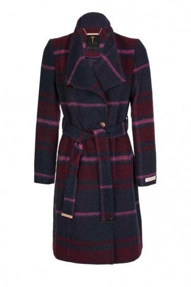 Ted Baker Women's Fredye Check Long Wrap Coat