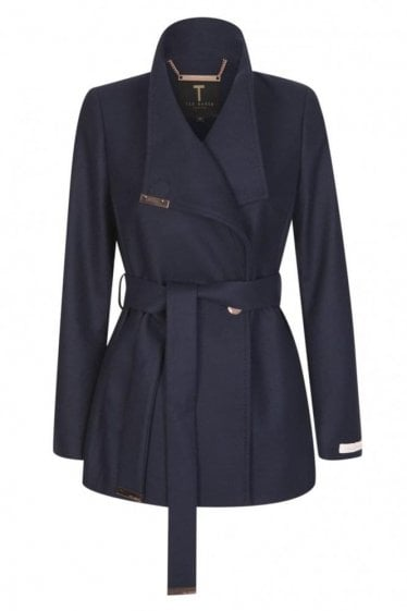 Ted Baker Women's Keyla Navy Short Wrap Coat