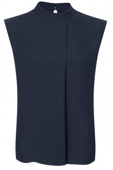 Ted Baker Womens Long Line Top Navy
