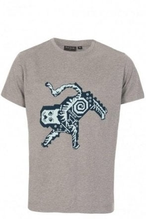 Paul Smith Pixelated Tiger T-Shirt Grey