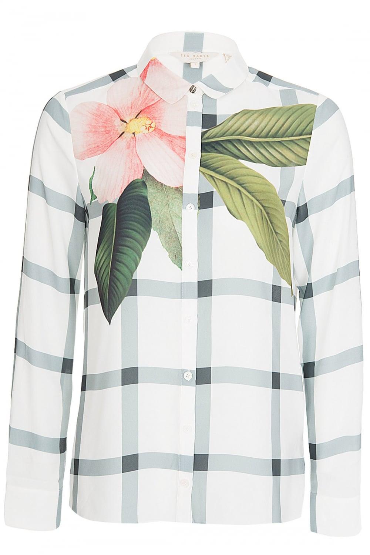 978b9f1c858 TED BAKER Ted Baker Women s   Trellis  Check Print Shirt - Clothing ...