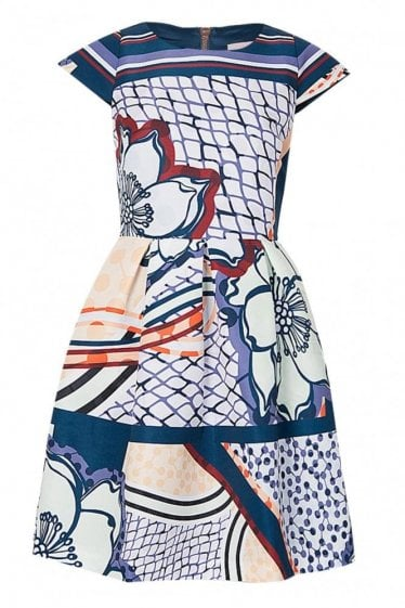 Ted Baker Womens Tribal Print Skater Dress
