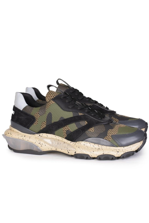 9da96cbe68212 VALENTINO Valentino Garavani Bounce Camouflage Sneakers - Footwear ...