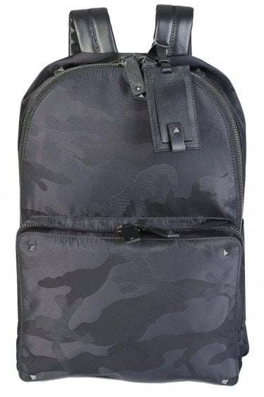 Valentino Garavani Camouflage Backpack Black