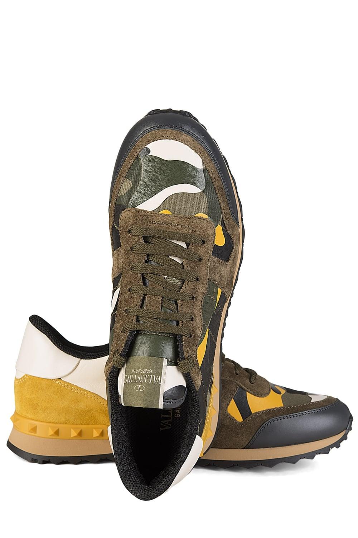 Valentino Sneakers Yellow Garavani Leather Camouflage zzpUR 74d219999cc
