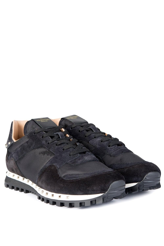 valentino garavani studded sole sneakers black. Black Bedroom Furniture Sets. Home Design Ideas
