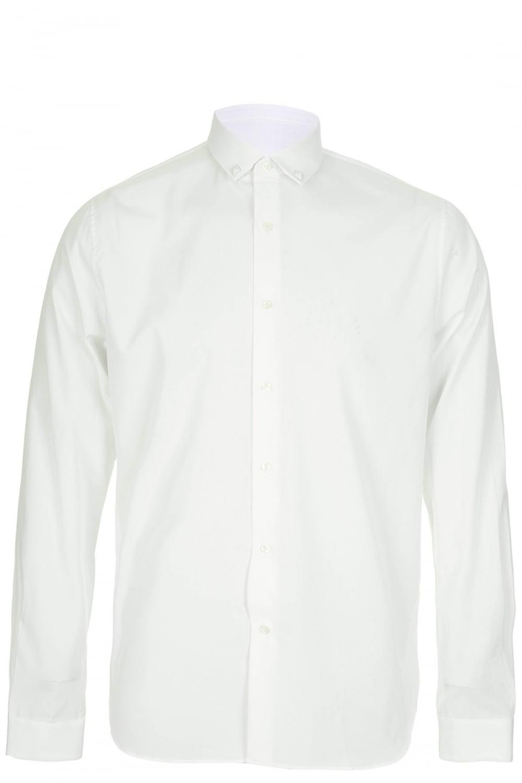 Valentino valentino iconic collar stud shirt white for Dress shirt studs uk