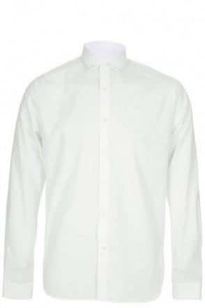 Valentino Iconic Collar Stud Shirt White