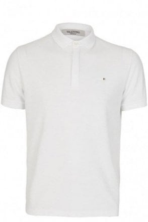 Valentino Iconic Stud Polo White