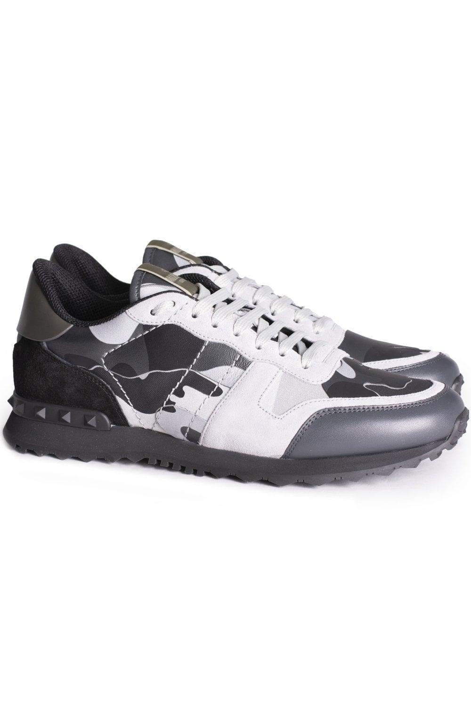 43182696f04cc VALENTINO Valentino Luminous Camouflage Rockrunner Sneakers ...
