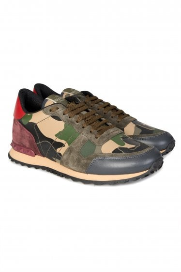 ff615be6f90c1 Valentino Rockrunner Camouflage Sneakers