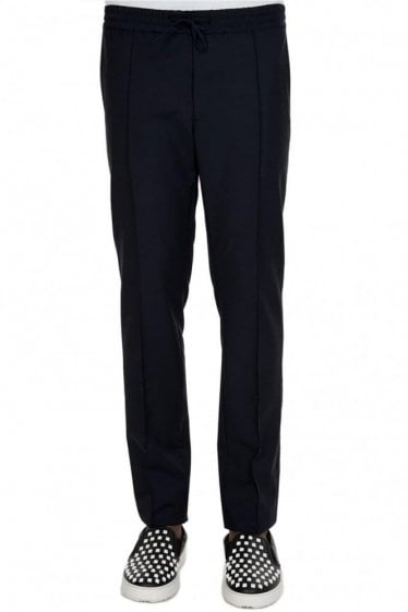 Valentino Slim Fit Elasticated Waistband Trousers Navy