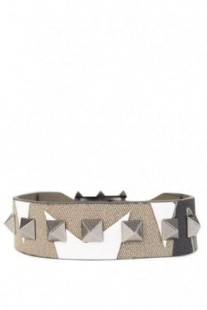 Valentino Studded Camo Canvas Braclet