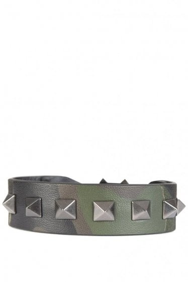 Valentino Studded Canvas Braclet