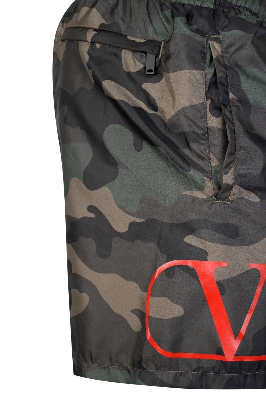 a6d1696890 VALENTINO Valentino V Logo Camouflage Swim-shorts - Clothing from ...