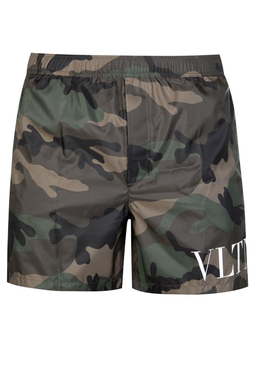 ef8fc6d826 VALENTINO Valentino VLTN Camouflage Swim Shorts - Clothing from ...