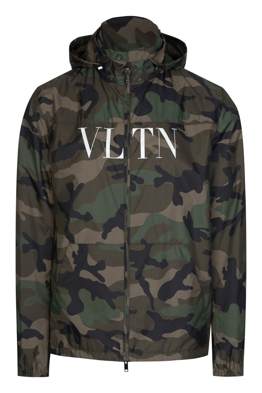 0a5a143314c99 VALENTINO Valentino VLTN Camouflage Windbreaker Jacket - Clothing from  Circle Fashion UK