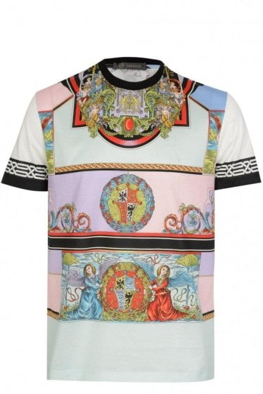 Versace Angeli Print Cotton T-Shirt
