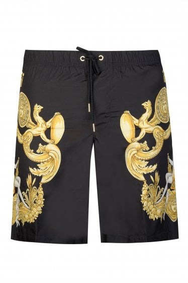 Versace Baroque Print Swim Shorts