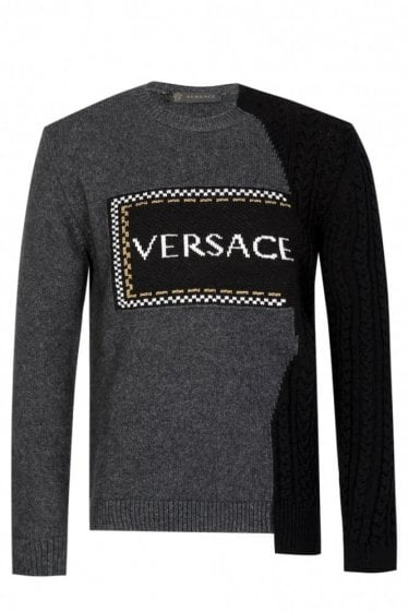 Versace Cable Knit Sweatshirt