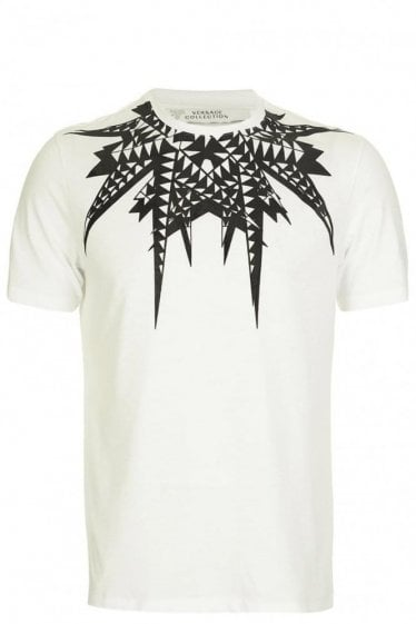 Versace Collection Collar Print Tshirt White