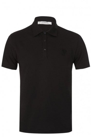 Versace Collection Half Medusa Polo Black