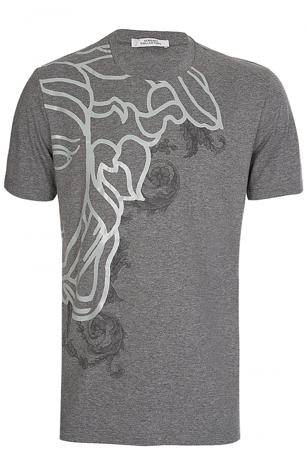 bf0f3b49 VERSACE Versace Collection Medusa Print T-Shirt Grey - Clothing from ...