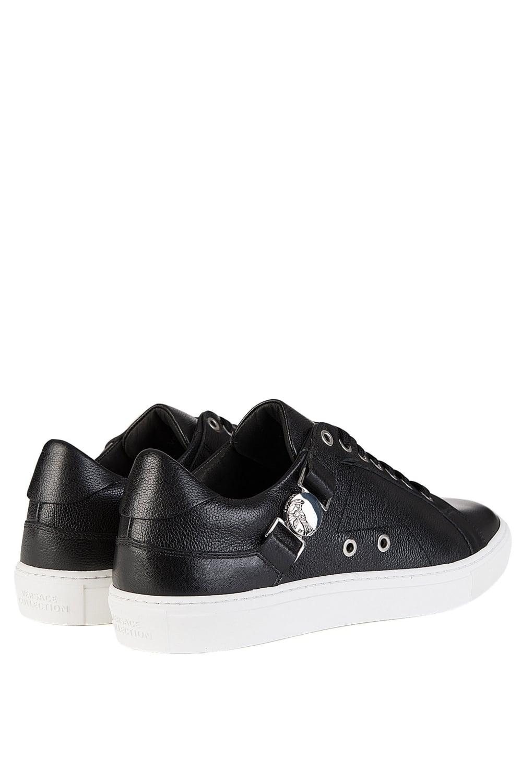 Collection Nickel Medusa Plaque Sneakers Black