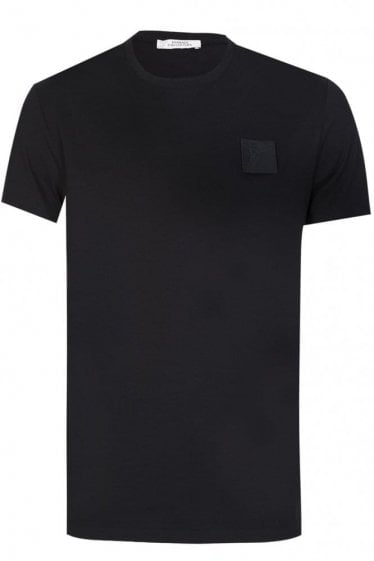 Versace Collection Square Velcro Logo T-Shirt Black