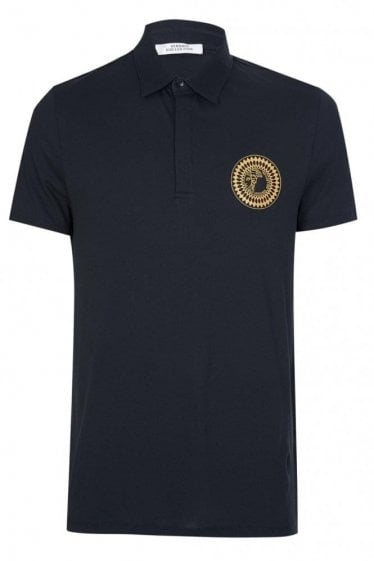 Versace Collection Sundial Medusa Polo Black