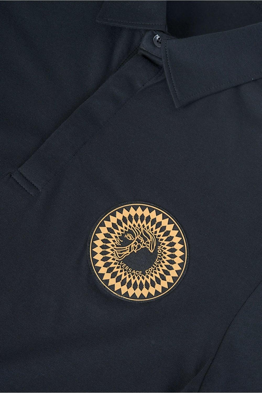 2ecb1ec4 Versace Collection Sundial Medusa Polo Black