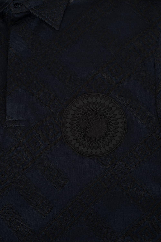 219ba891 Versace Collection Sundial Medusa Polo Navy