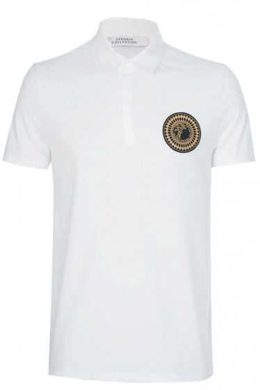 Versace Collection Sundial Medusa Polo White