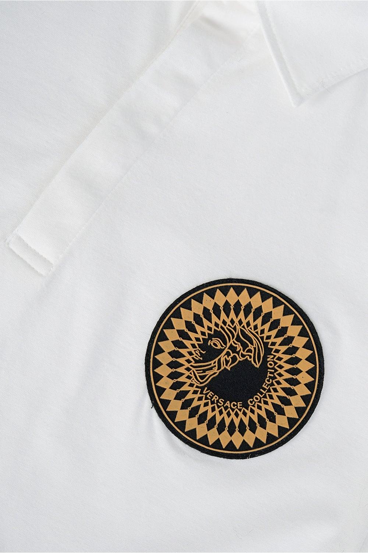 4159d37c Versace Collection Sundial Medusa Polo White