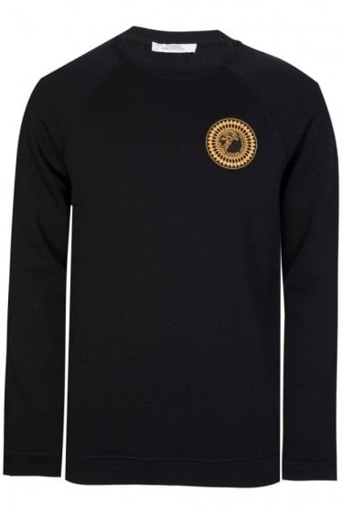 Versace Collection Sundial Medusa Sweatshirt Black